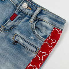 Mickey Stripe Biker Denim - Haus of JR