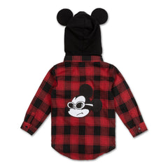 Mouse Ears Plaid Flannel - Haus of JR