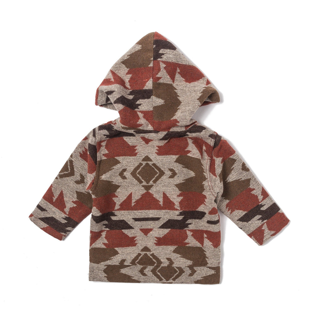 Tribal Hoodie Poncho (Auburn) - Haus of JR