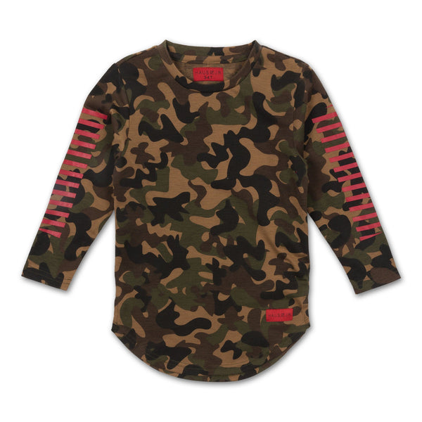 ROGER LONG SLEEVE TEE (DUST CAMO)
