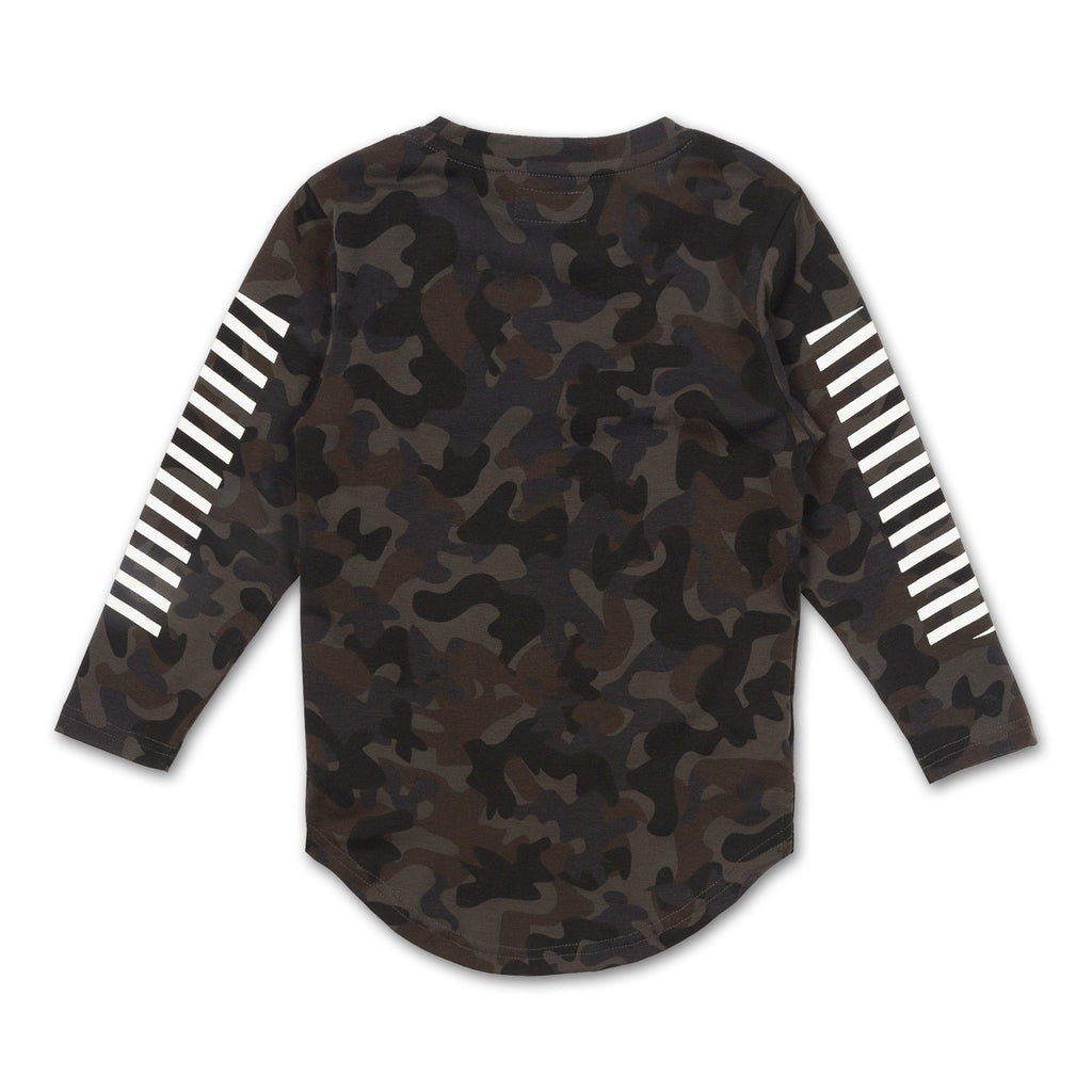 ROGER LONG SLEEVE TEE (STONE CAMO) - Haus of JR
