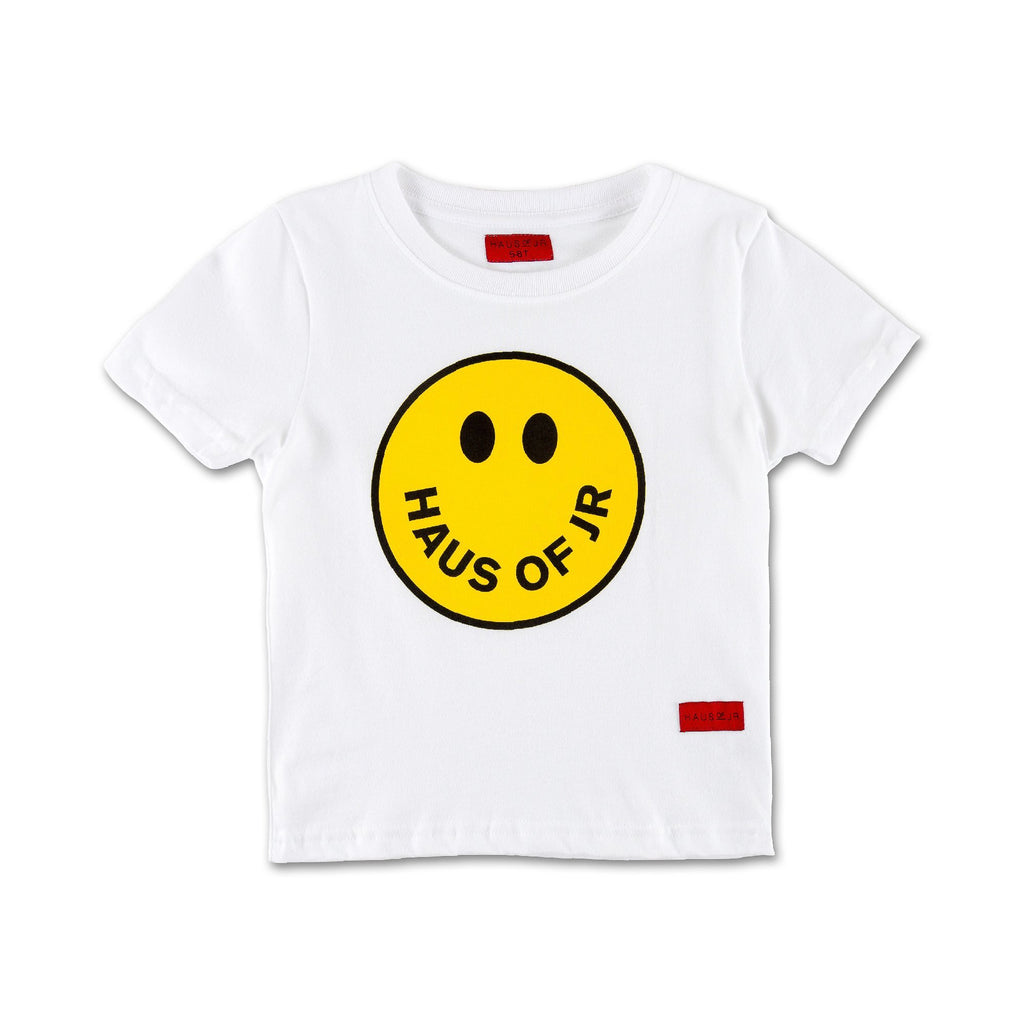 Smile Tee (White) - Haus of JR