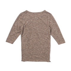 Tim Side Zip Long Sleeve (Heather Brown)