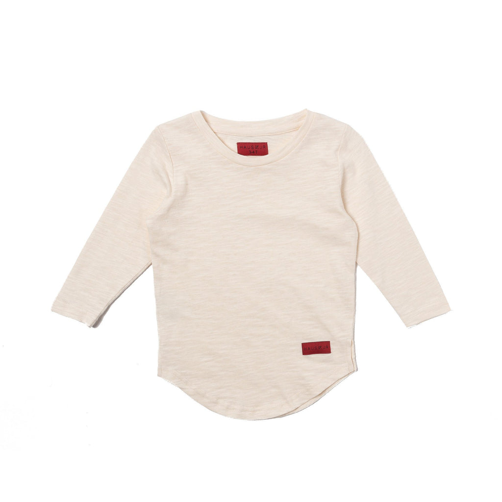 TREVOR SCALLOP LONG SLEEVE TEE (OFF WHITE) - Haus of JR