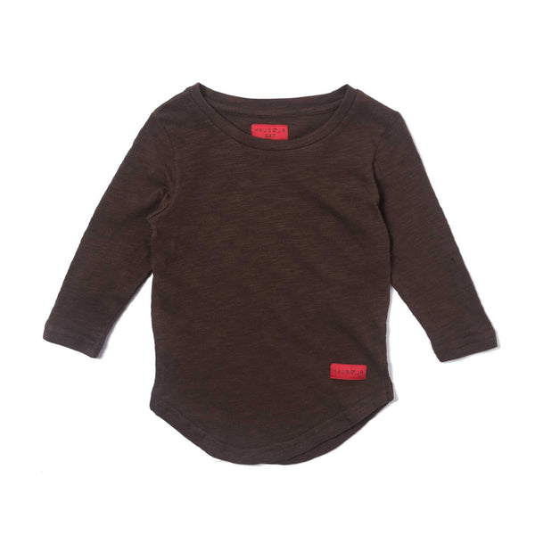Trevor Scallop Long Sleeve Tee (Brown)