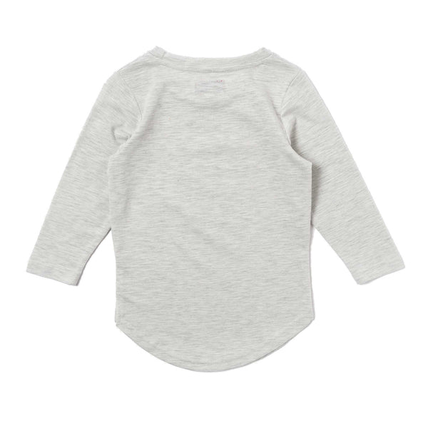 Trevor Scallop Long Sleeve Tee (Heather White)