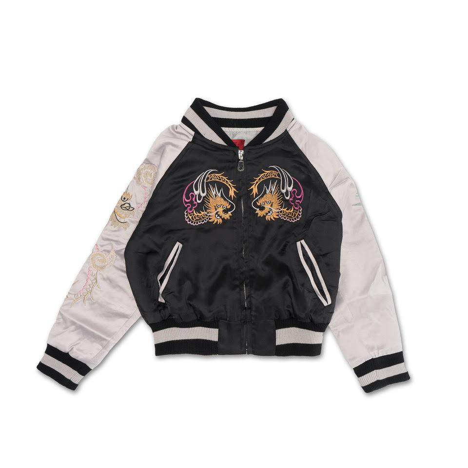 Wyatt Souvenir Jacket (Black) - Haus of JR