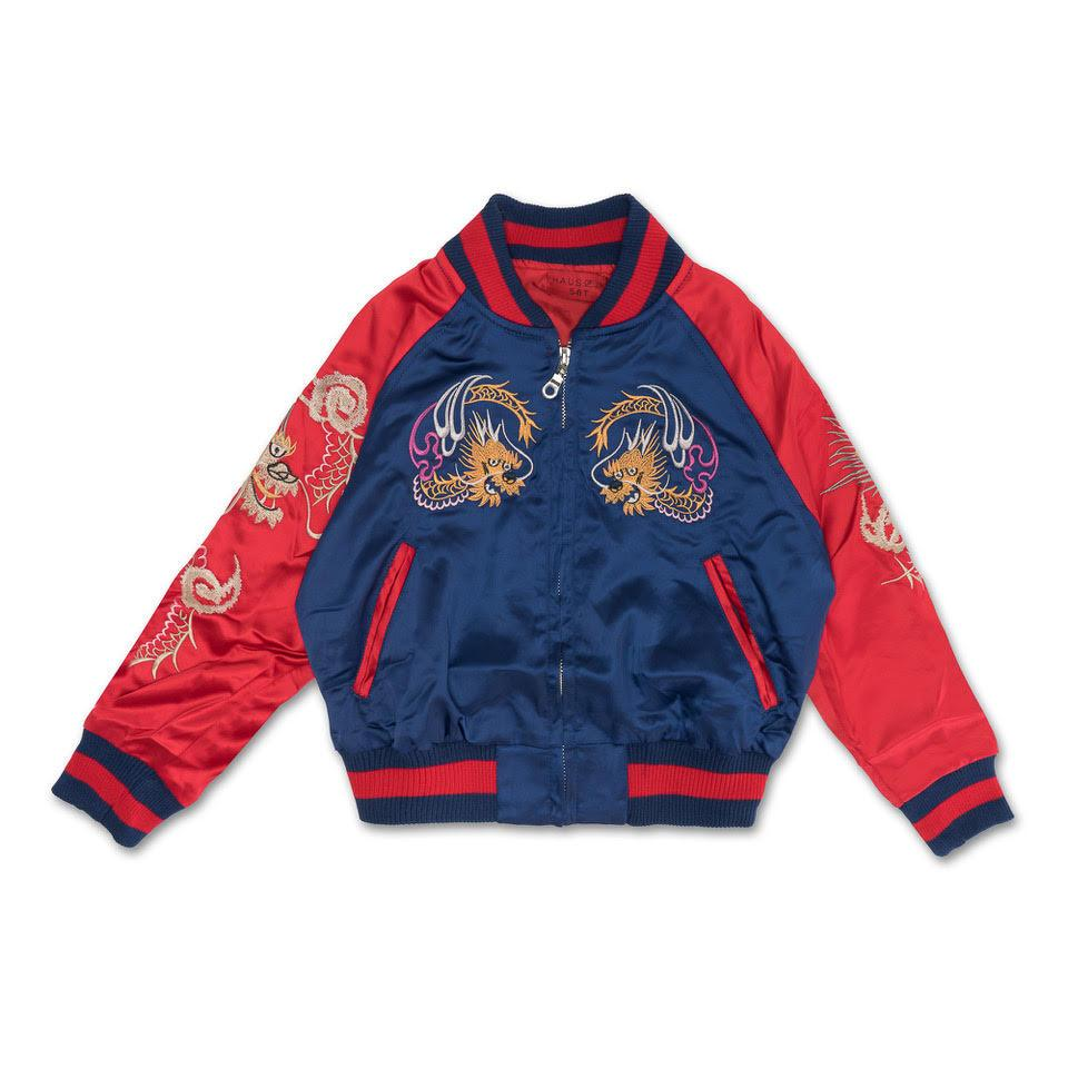 Wyatt Souvenir Jacket (Navy) - Haus of JR