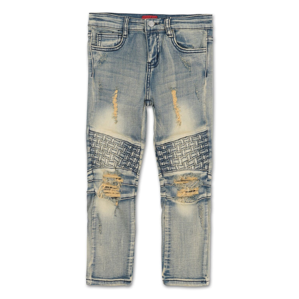Walton Weave Biker Denim (Light Sandwash) - Haus of JR