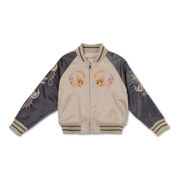Wyatt Souvenir Jacket (Creme/Light Plum)