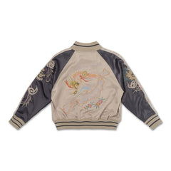 Wyatt Souvenir Jacket (Creme/Light Plum) - Haus of JR