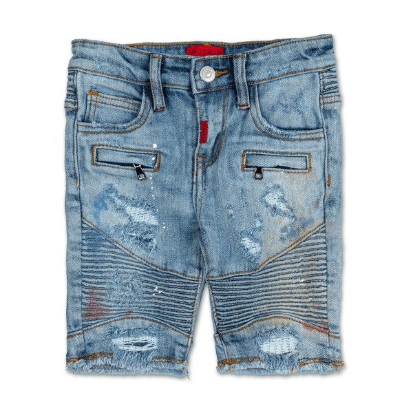 Xander Biker Denim Shorts