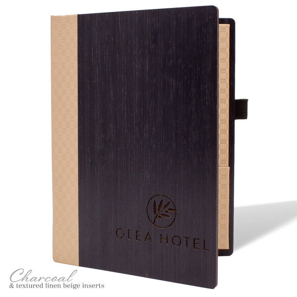 Hotel Stationery Cover in Charcoal