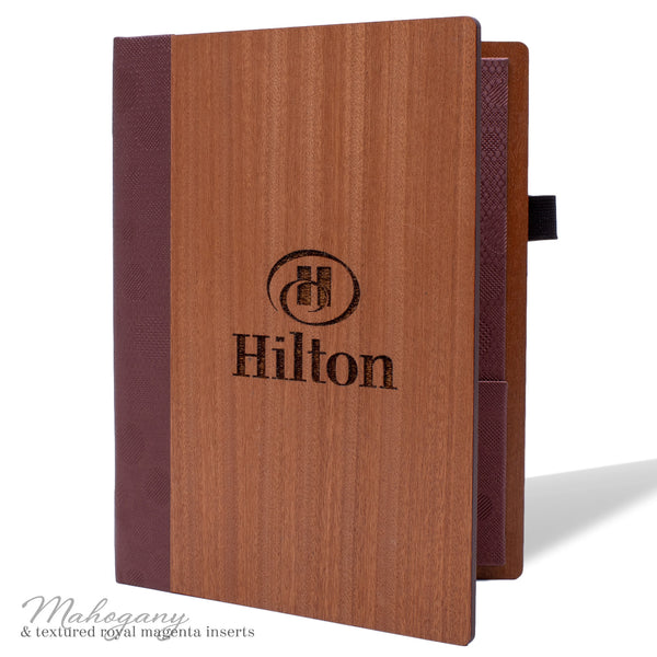 Hotel Stationery Cover in Mahogany