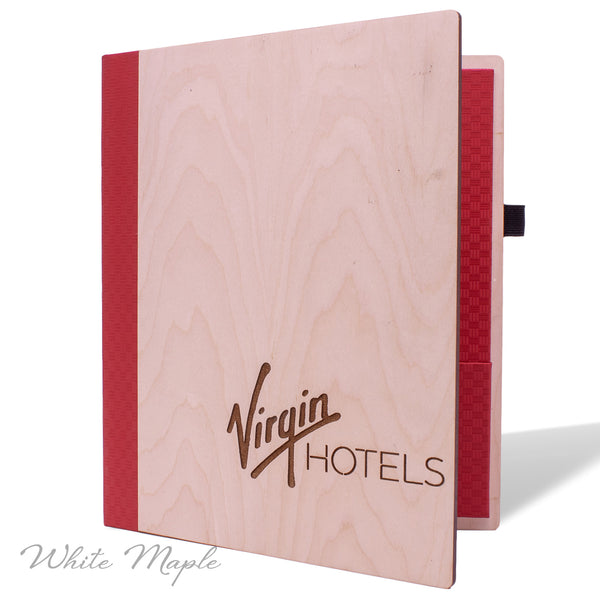 Hotel Stationery Cover in White Maple