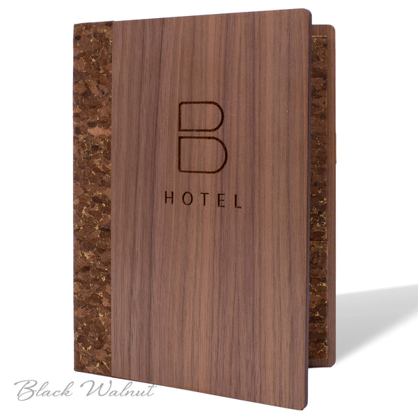 Hotel Stationery Cover in Black Walnut