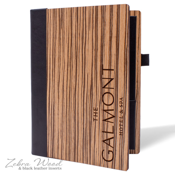 Hotel Stationery Cover in Zebra Wood