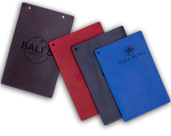Optional leather covers in 4 different colors