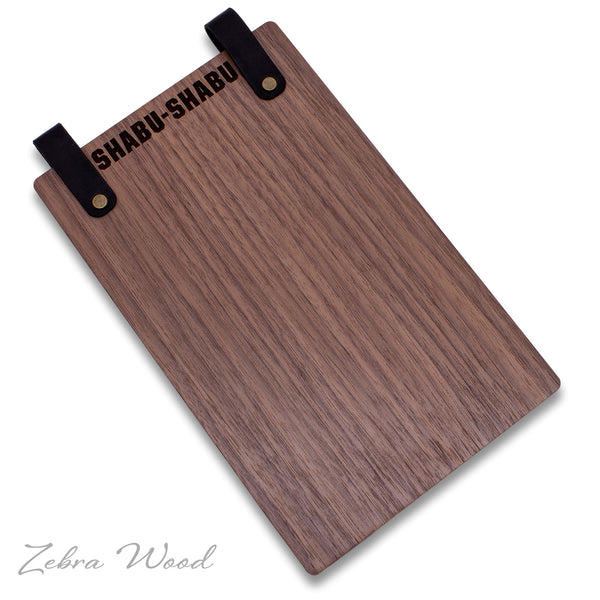 Hotel Directory Page Holder with Leather Loop in Black Walnut