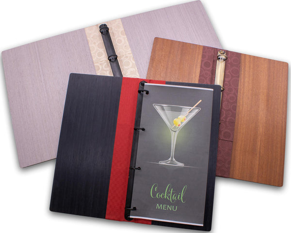 Menu Cover with Binder Ring Mechanism - Woodberry Company