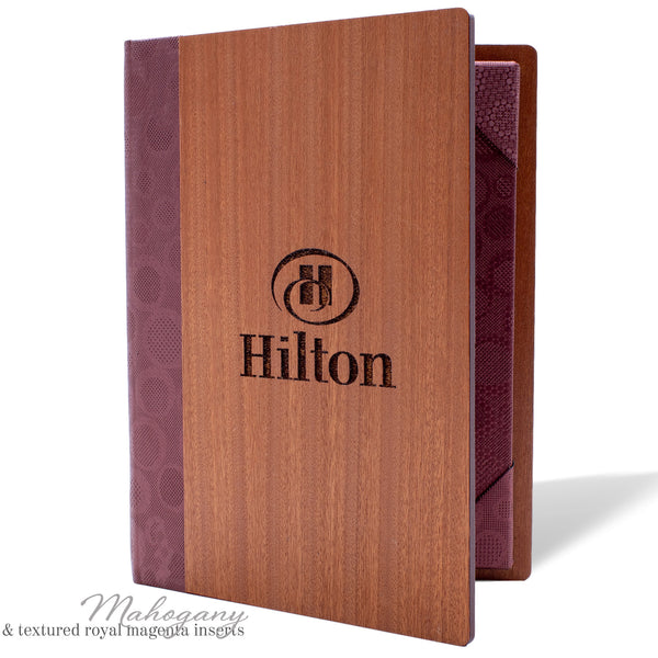 Menu Cover With Corner Tab Inserts - Woodberry Company