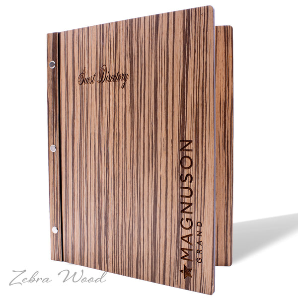 Screw Post Cover for Hotel Directory, In Room Dining, Compendium in Zebra Wood