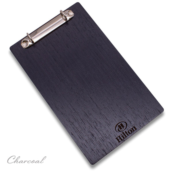 Menu Holder With Binder Ring Mechanism (& Optional Leather Menu Page Cover)