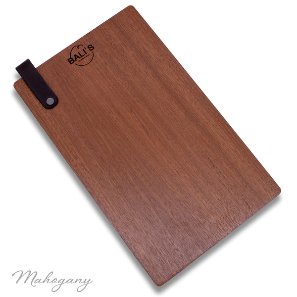 Menu Holder with Leather Loop Page Holder - Woodberry Company