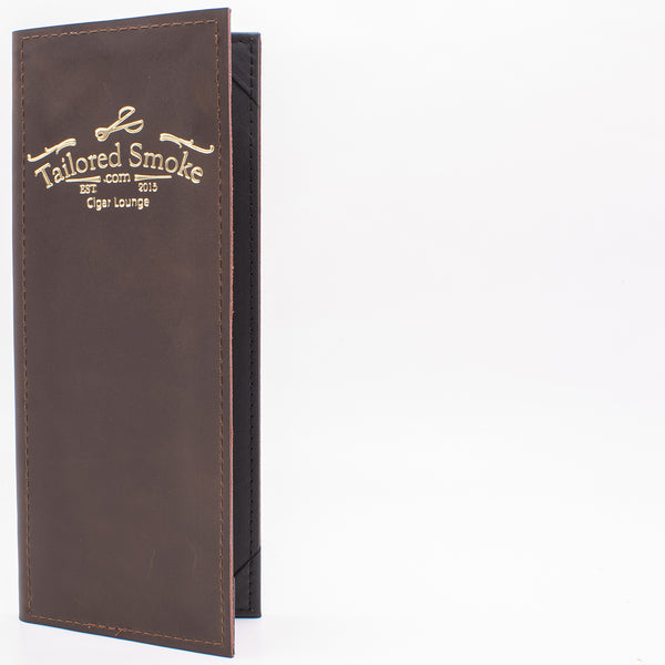 Leather Menu Cover With Corner Tabs