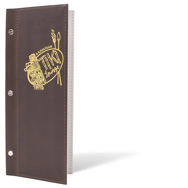 Leather Menu Cover With Screw Post Binding