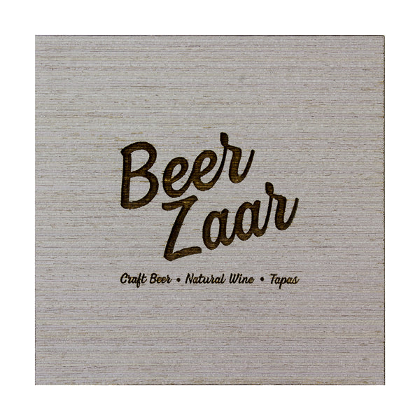 Custom Wood Coasters With Cork Base - Woodberry Company