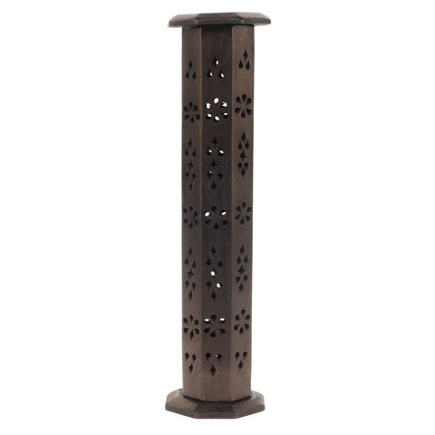 WOODEN TOWER INCENSE HOLDERS