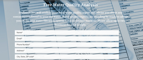 free water test analysis