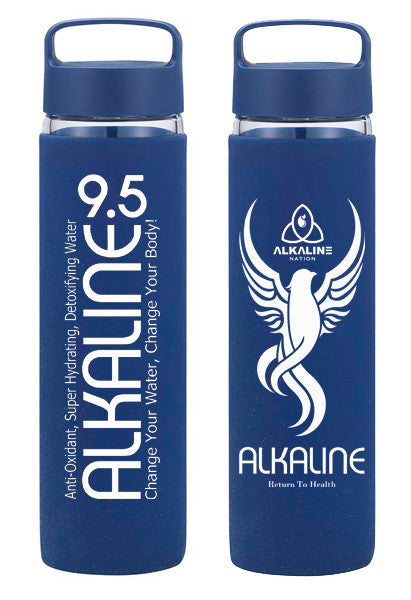 Alkaline 9 5 water glass bottles alkaline nation for Floor 9 water bottle