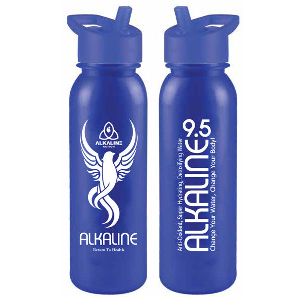 Clearance - Opaque Alkaline 9.5 Blue Straw Bottle - *Special Offer*
