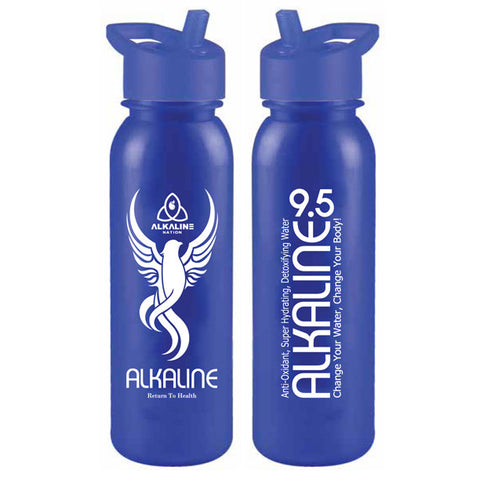 (50) Alkaline 9.5 Blue Straw Bottles (50% OFF) ***FREE Shipping***