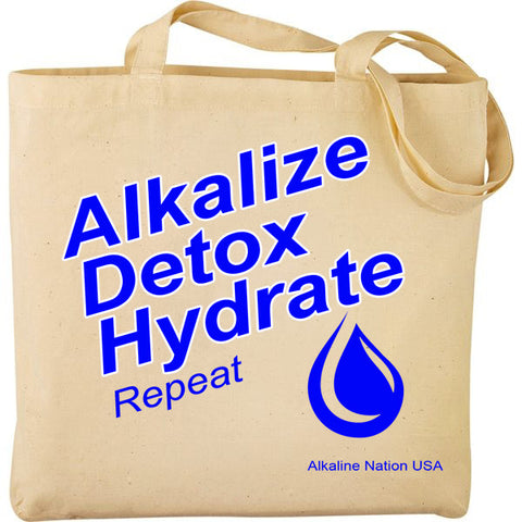 Alkalize Detox Hydrate - Canvas Tote Bag