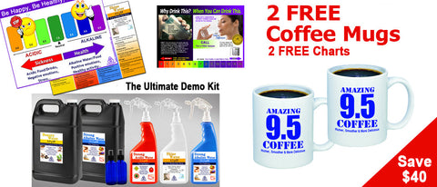 *Special Offer* The Ultimate Kangen Demo Kit - 2 FREE Coffee Mugs & 2 Free Charts