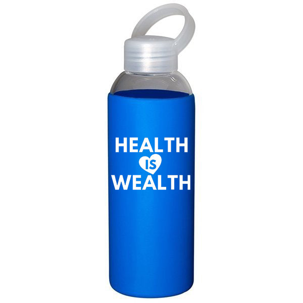 Health is Wealth - Blue Glass Bottle *Special Offer*