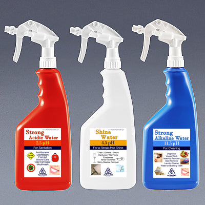 Cleaning Bottles - 2.5pH, 11.5pH, 4.5pH *Special Offer*