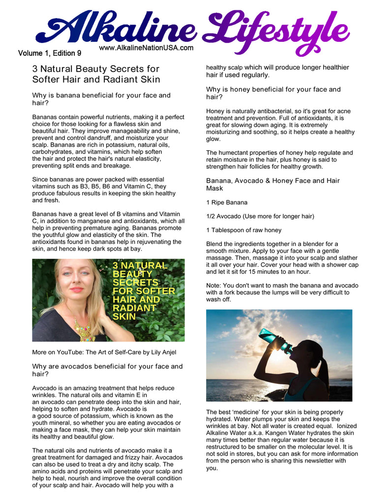 FREE PDF Download - 3 Beauty Secrets for Softer Hair and Radiant Skin - Volume 1, Edition 9