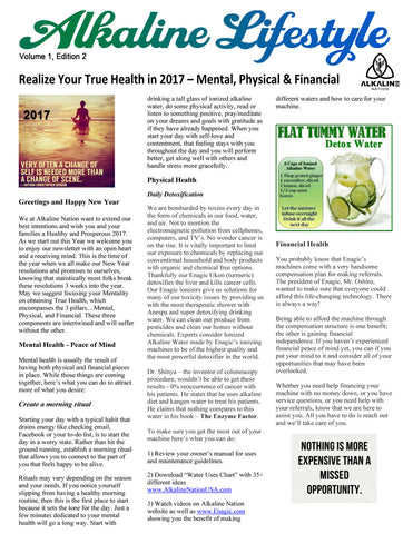 FREE Alkaline Lifestyle Newsletter - Realize True Health - Volume 1, Edition 2