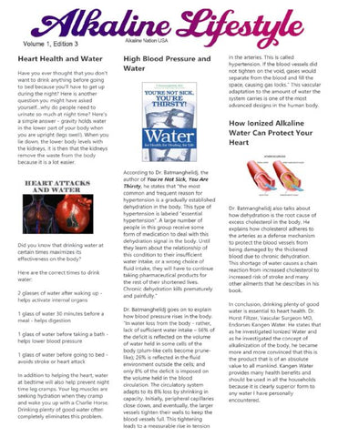 Alkaline Lifestyle Newsletter - Heart Health - Volume 1, Edition 3