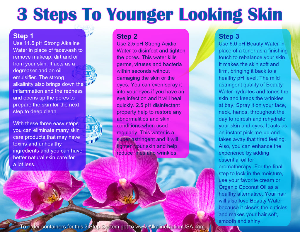 Download Kangen Water Skin Care Chart (Orchid Design)
