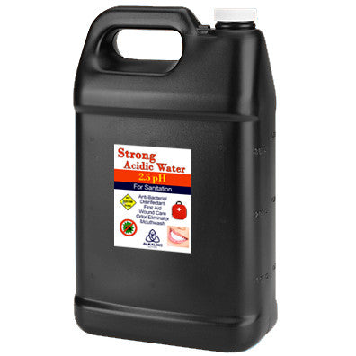 Black Gallon Jugs - 2.5pH Strong Acid Water