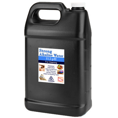 Black Gallon Jugs - 11.5pH Strong Alkaline Water