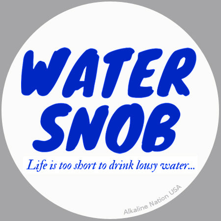 24 Water Snob Stickers (Round 3 inch) *FREE Coffee Mug*