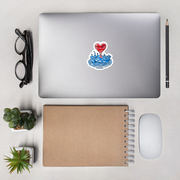 "I ""Heart"" Water Stickers"