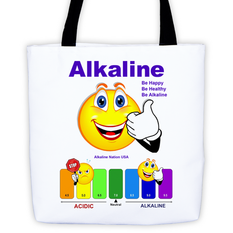 Alkaline Tote - pH Chart with Happy Face