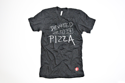 'Devoted to Pizza' Shirt (Grey)
